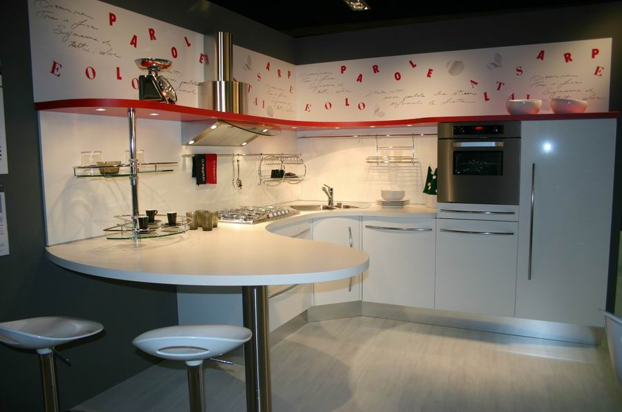 salone del mobile Bergamo, stand cucine Snaidero - mod. Skyline ...