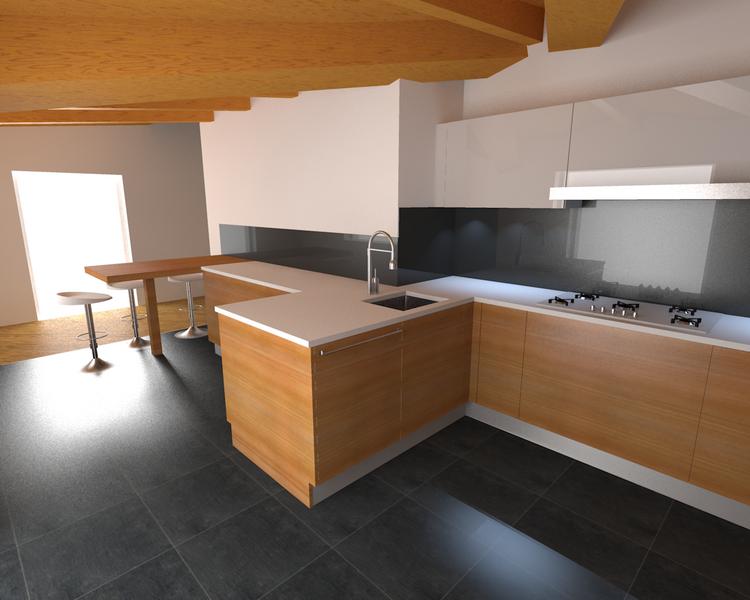 Progettazione arredamento di cucine carminati e - Cucine per mansarde ...