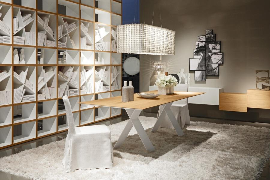 Tavolo tailor da soggiorno rovere e bianco carminati e for Tavolo rovere sbiancato