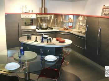 outlet cucine, cucina Skyline Snaidero in esposizione a prezzo outlet