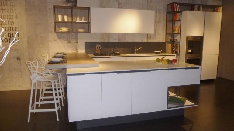 Cucina Orange Evolution a Bergamo, il nuovo modello Snaidero