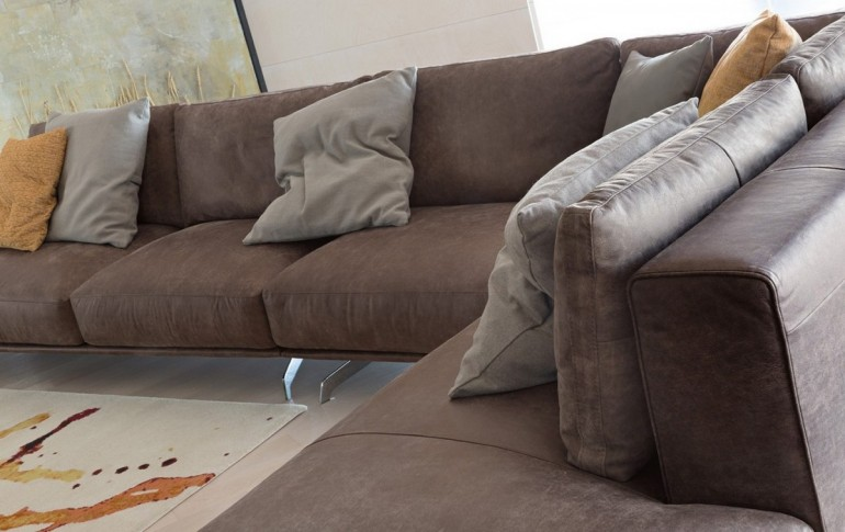 prezzzi promozione su divani Ditre Italia - divano Dalton DitreItalia -particolare cuscini divano Dalton Ditre Italia - versione in ecopelle