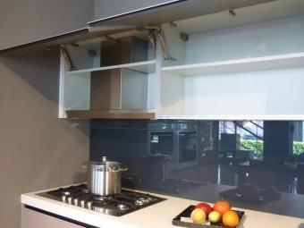 outlet cucina Digma DeMode Valcucine - particolare piano cottura Franke modello Neptune a 5 fuochi cm. 80