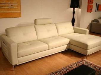 outlet divani: divano in offerta a prezzo speciale modello Annabella in pelle