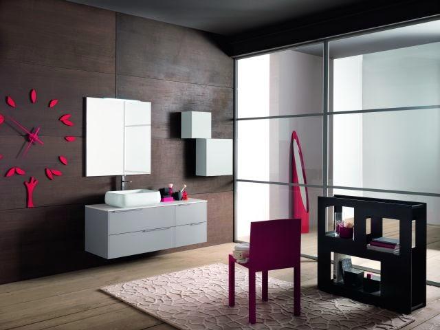 linea grigio chiaro composizione con lavabo soprapiano