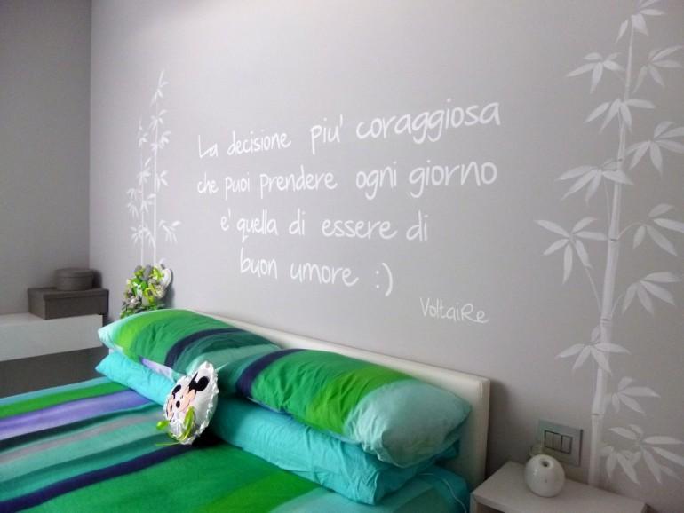 camera da letto con letto Fluttua Lago , arredamento moderno Bergamo