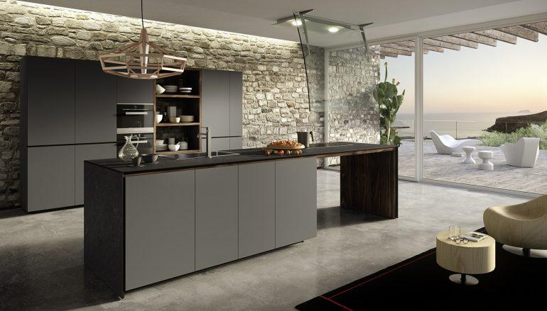 Valcucine Bergamo, cucina Forma Mentis con isola
