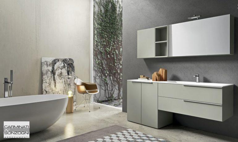 mobile da bagno kyros con portalavatrice in vendita a Zogno Bergamo