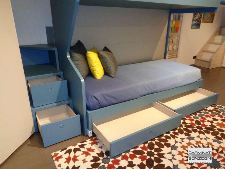 cameretta con armadio, cabina e letto castello | Carminati ...