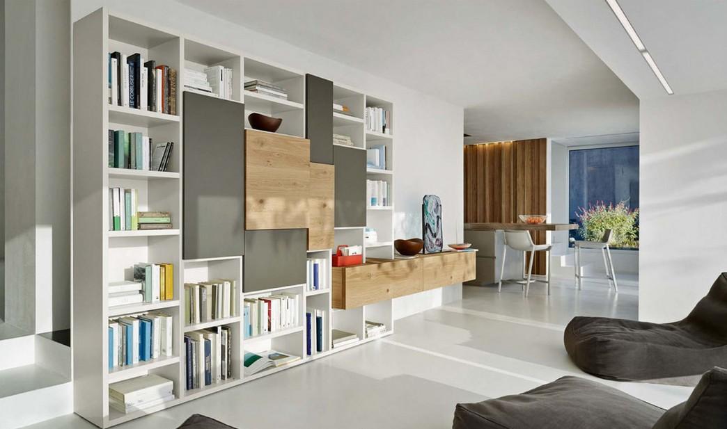 mobile libreria da soggiorno Sangiacomo per La casa Moderna
