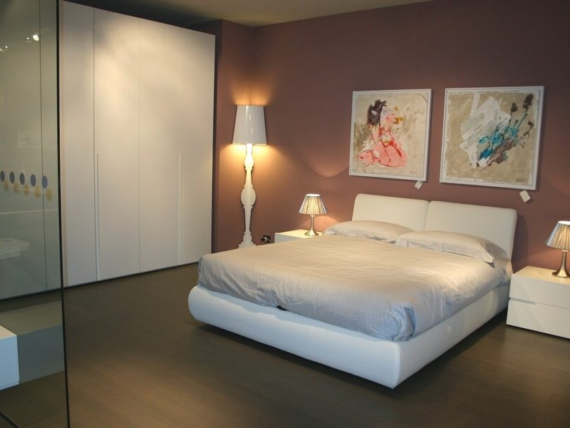 camera in promozione la casa moderna armadio letto imbottito contenitore gruppo breccia laccato bianco