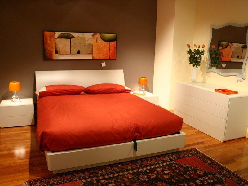 camera da letto Tempo con letto con contenitore