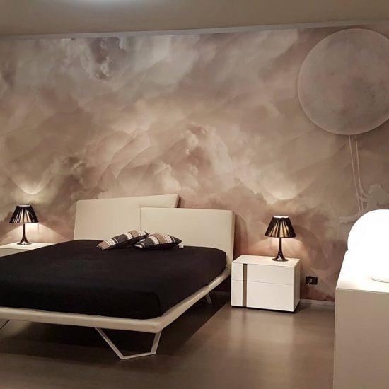 camere da letto Bergamo, con letto Meeting Presotto, armadio e gruppo letto La CAsa Moderna, visibile nel nostro negozio di Zogno Bergamo