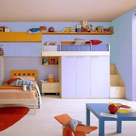 cameretta letto con armadio
