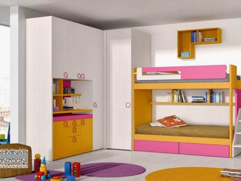 Camere da letto bergamo camerette letti armadi armadi scorrevoli cabine armadio carminati for Cameretta con letto a castello