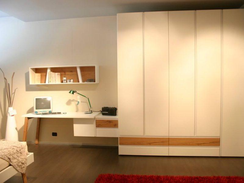 clever armadio con scrivania e libreria