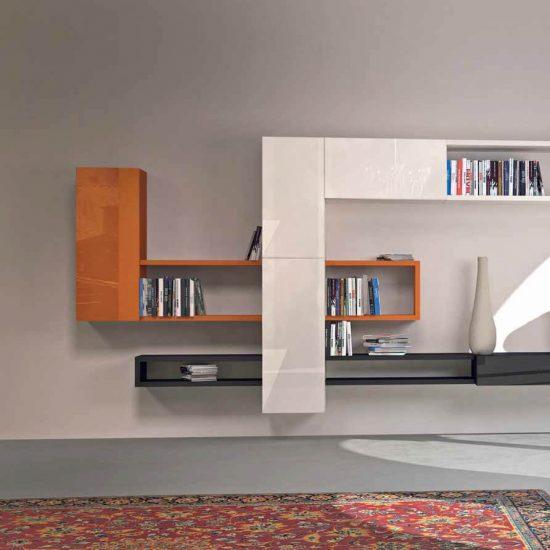 Composizione di mobili e contenitori 36e8 Lago mobili e libreria