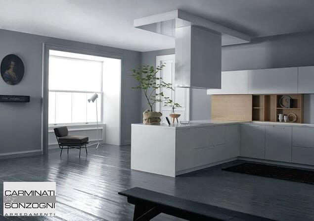 Cucine la casa moderna bergamo carminati e sonzogni cucine la casa moderna - Cappa cucina isola ...