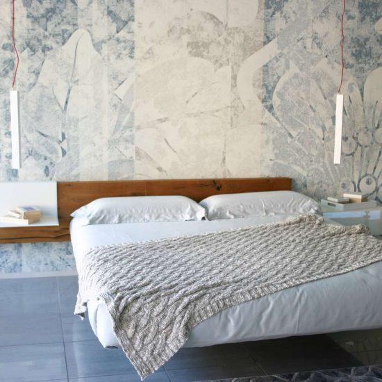 letto Fluttua Lago Bergamo, carta da parati La Casa Moderna Inkiostro Bianco
