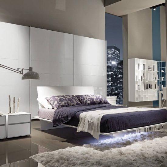 letto Plana e armadio Kaleido, per camera da letto