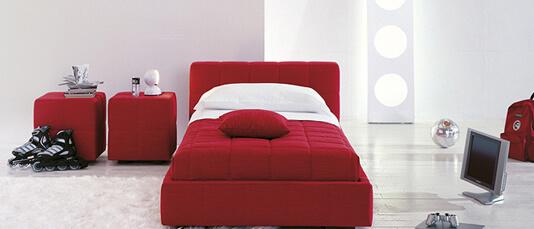 letto rosso squaring bonaldo
