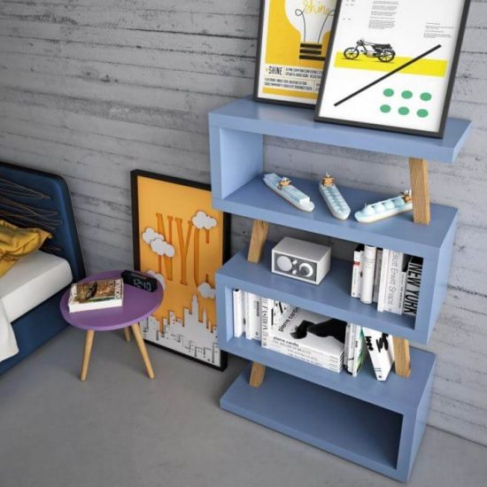 libreria-mensola-snake-supporti-legno-massello