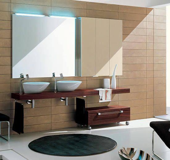 mobile da arredo bagno palissandro
