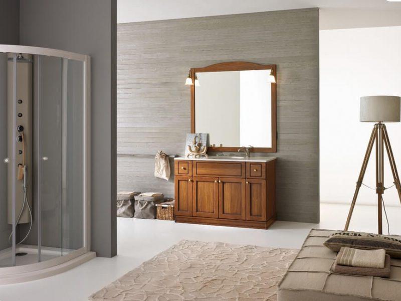 mobile da bagno classico con copri lavatrice modello COUNTRY cm. 175, disponibile in varie misure, t. noce o laccato