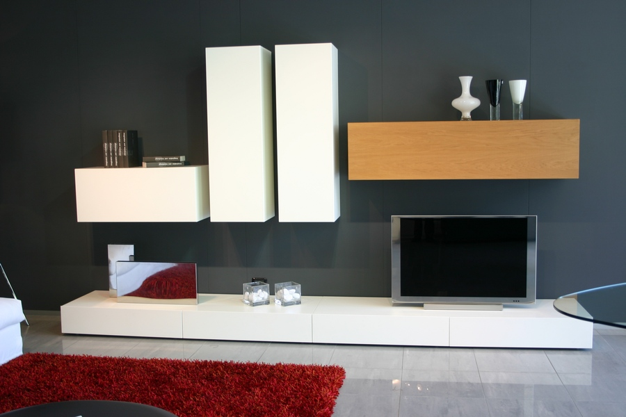 Mobile modulart presotto da soggiorno moderno venduto carminati