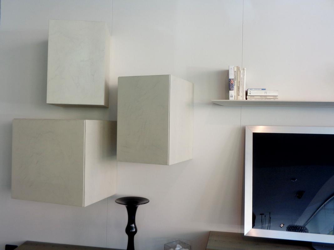 mobile soggiorno Presotto Inclinart, pensili inclinati