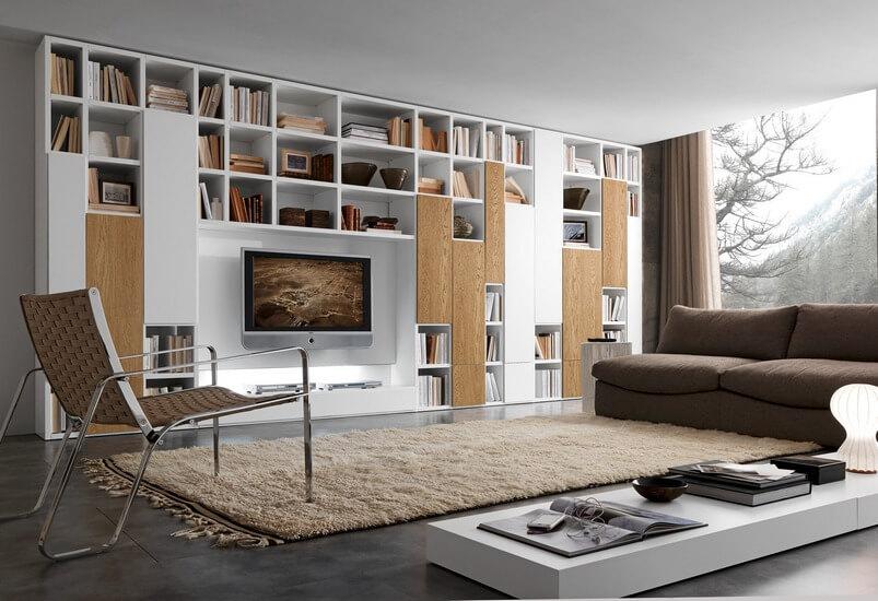 Mobile da soggiorno a libreria | Carminati e Sonzogni ...