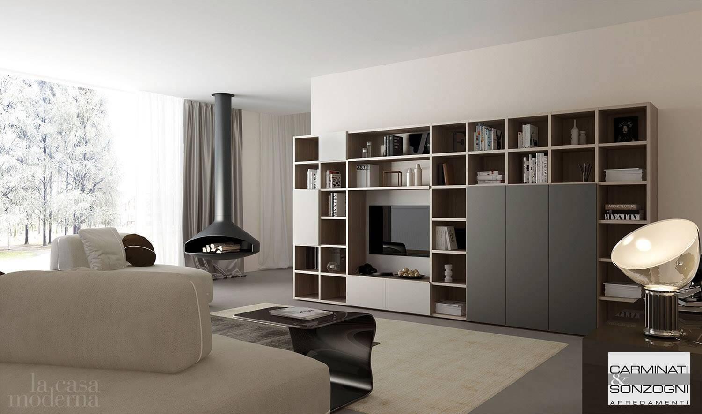 Soggiorno d la casa moderna carminati e sonzogni arredamenti for Casa moderna soggiorno