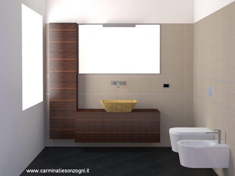 progetto bagno -1 rendering Bergamo