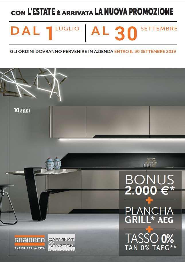 promozione Snaidero, cucine Snaidero Bergamo 2019