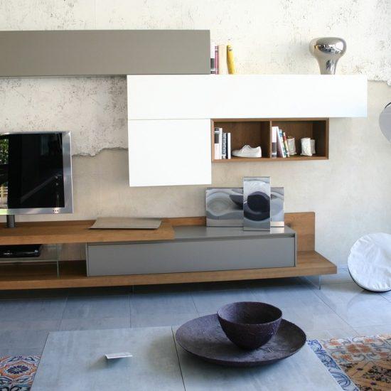 soggiorno la casa moderna lampo in esposizione a Zogno Bergamo, carta da parati Inkiostro bianco