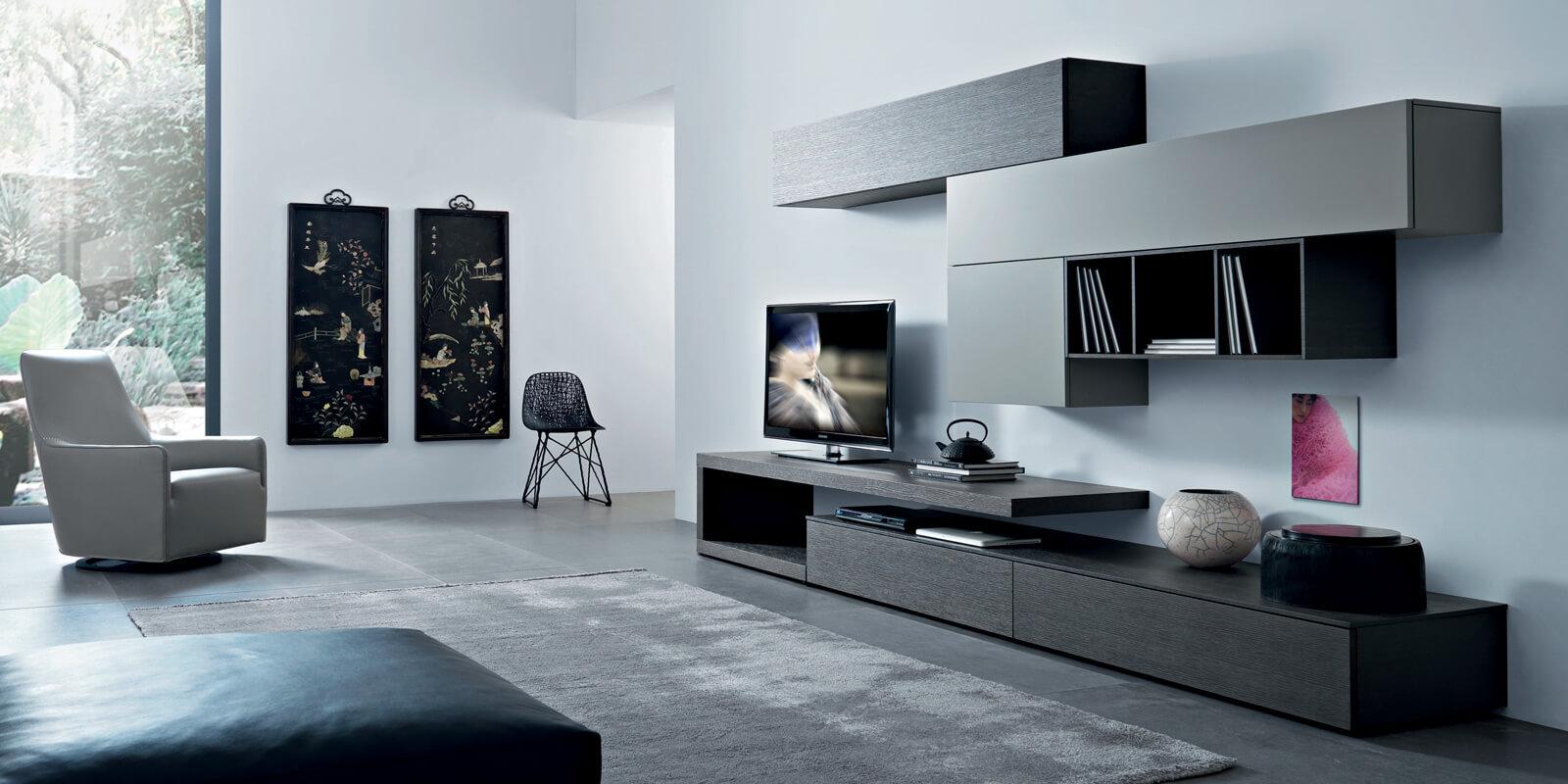 Soggiorno Rovere Grigio : Soggiorno lampo collezione la casa moderna l rovere grigio